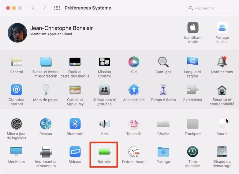 verifier batterie macbook